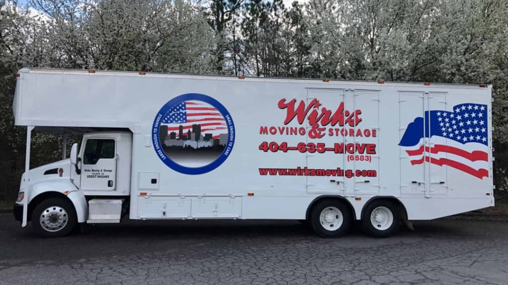 Local Moving Wirks Moving & Storage truck