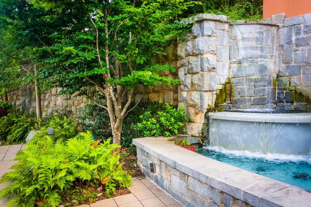 Fountain at Piedmont Park in Atlanta, GA