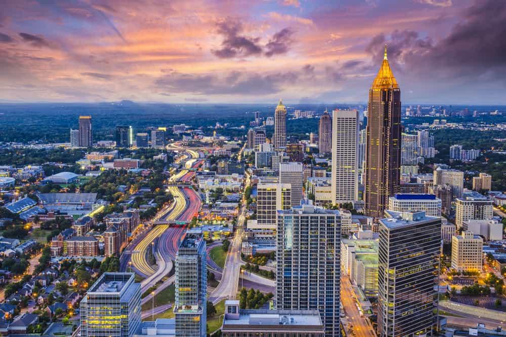 Aerial view of Atlanta, GA