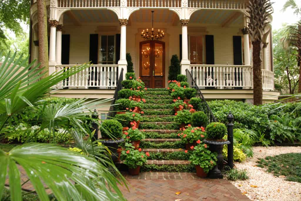 Beautiful entry staircase to an old century house