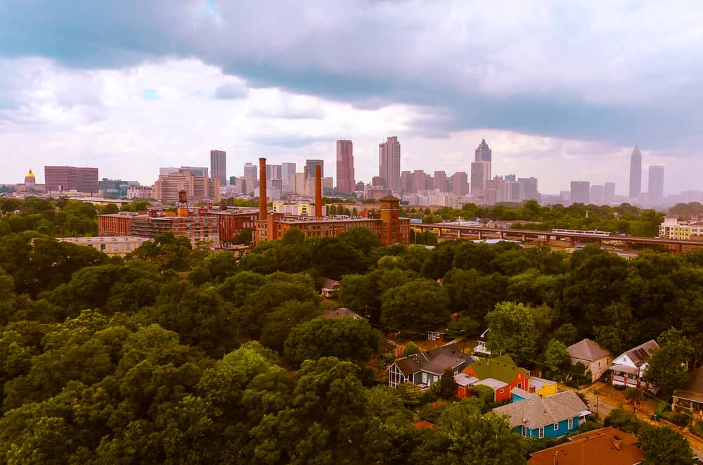 View of Downtown Atlanta, GA from Grant Park neighborhood